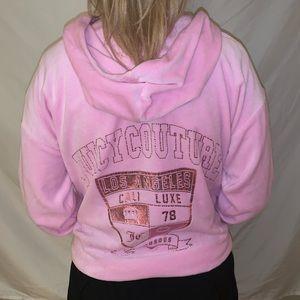 Juicy Couture Pink Velour Sweatshirt